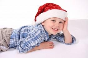 boy santa pose
